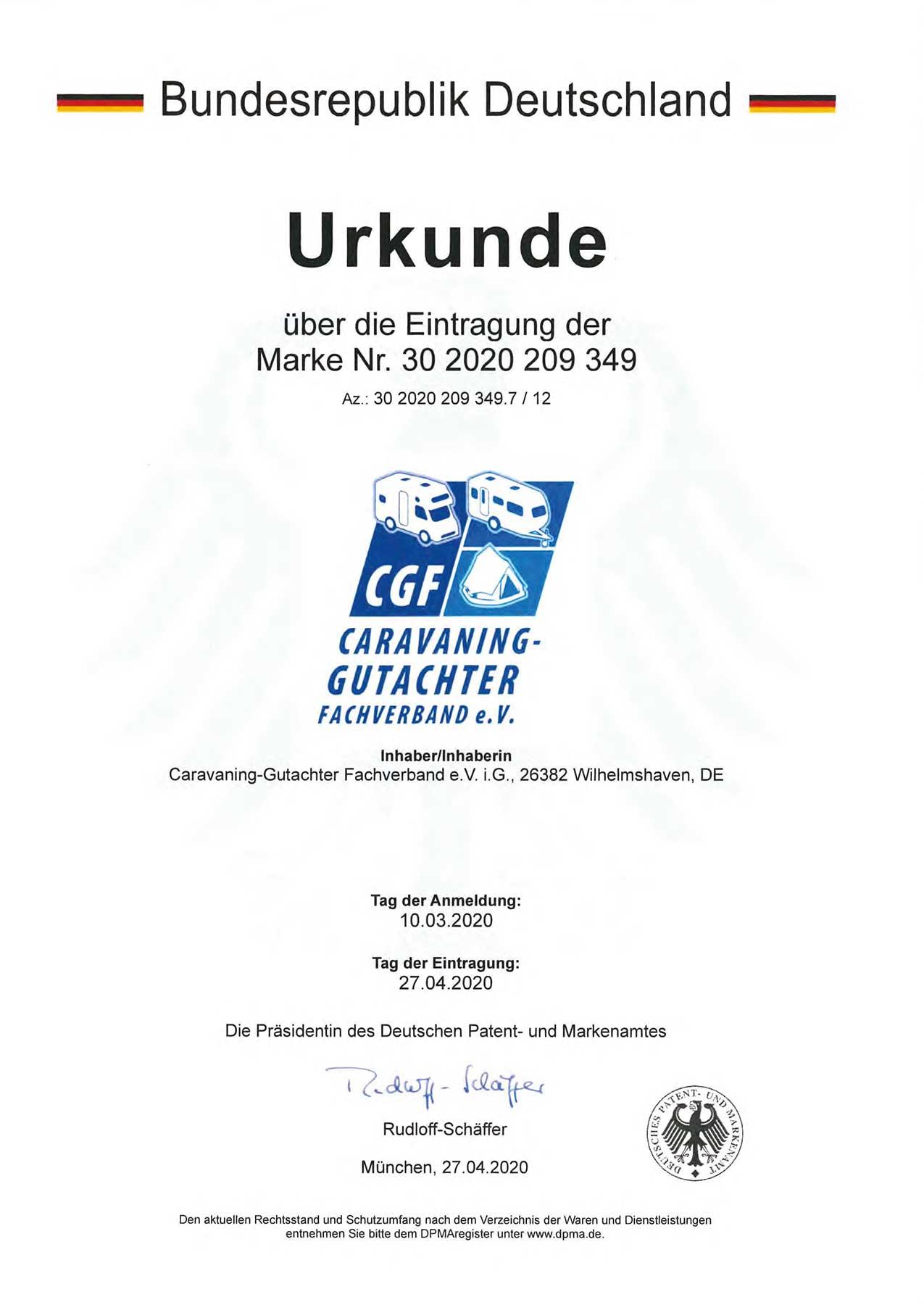 Patent eingetragene Marke